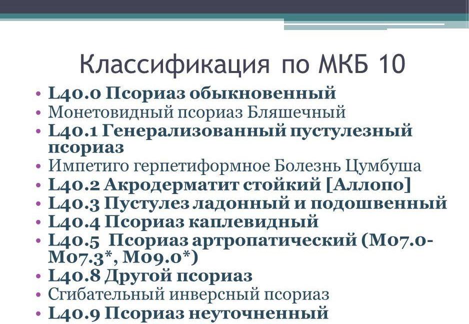 Псориаз Код По Мкб 10
